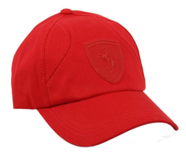 PUMA Ferrari F1 Formula One Team Hat Baseball Cap Snap Back Red Lifestyle