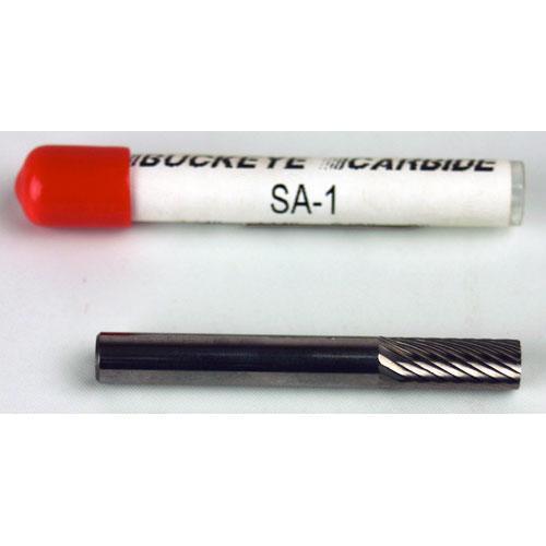 SA-1 Carbide Burr Cylindrical Single Cut 1//4 x 1//4 x 5//8 x 2