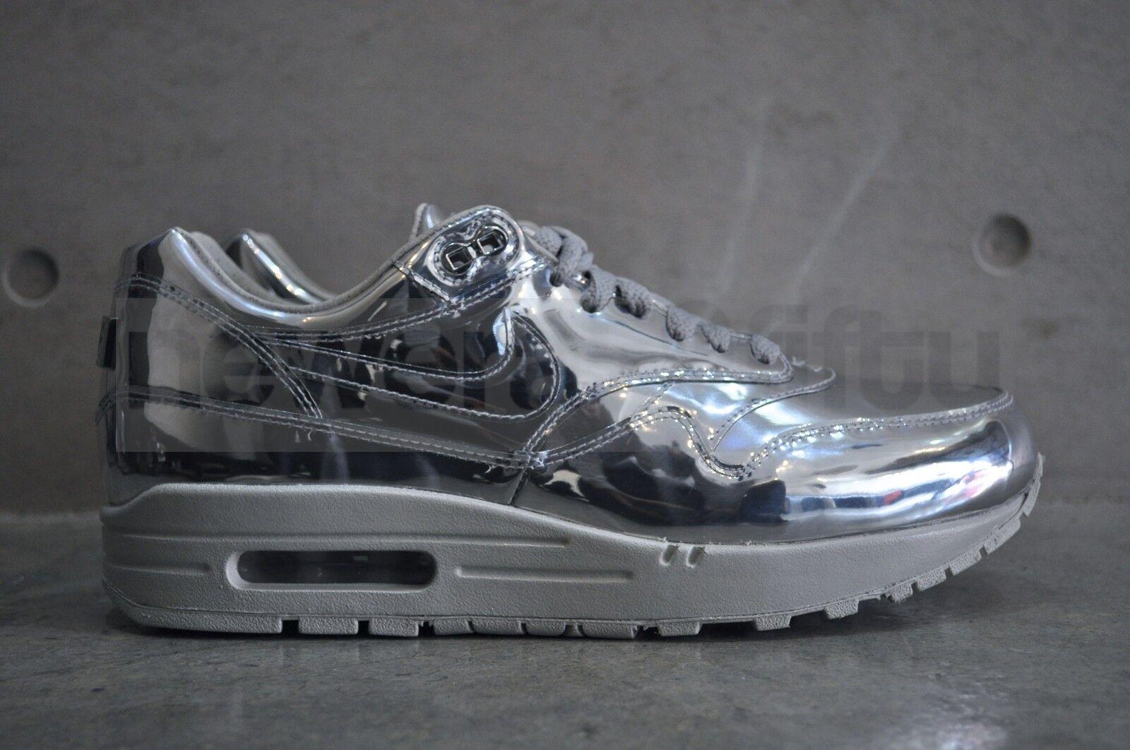 "Nike Air Max 1 1 1 SP ""Flytande silver ""- metalliskt silver  lätt ben  bästa mode"