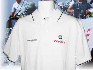 Clasico-Henri-Lloyd-Polo-BMW-ORACLE-america-039-s-COPA-pique-Blanco-S