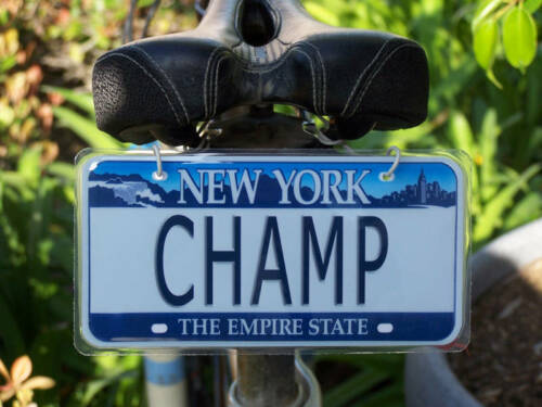 Bicycle license plate any name California design new custom personalized