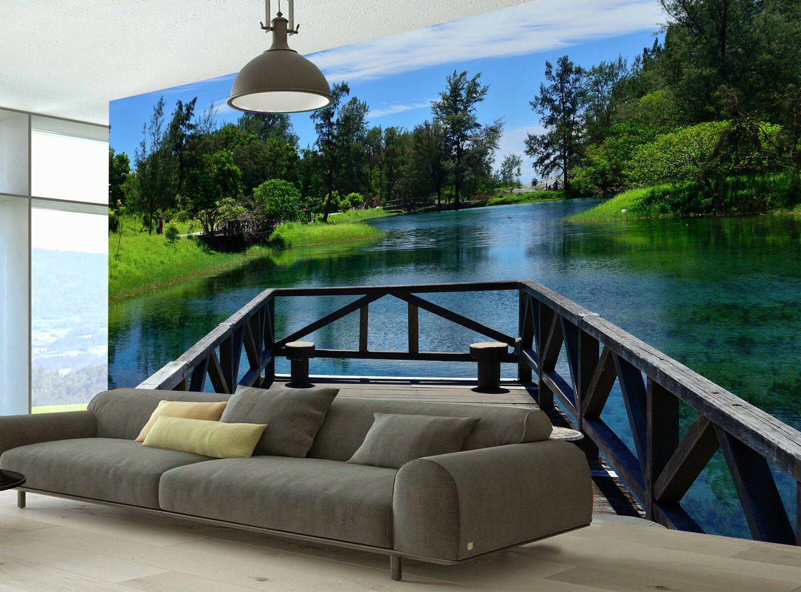 The Bridge Over the Lake Wall Mural Photo Wallpaper GIANT DECOR Paper Poster
