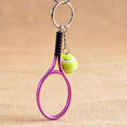 New Keyring Key Accessory Perfect Gifts Mini Tennis Racket Pendant Keychain