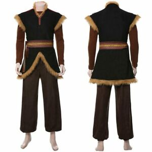 Frozen 2 Prince Kristoff Bjorgman Cosplay Costume Uniform Outfit Coat