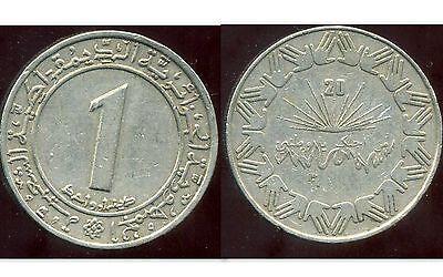 etat ALGERIE  ALGERIA  1 dinar 1987