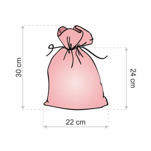 3 Stk Leinenbeutel 22 x 30 cm Geschenk Schmuck Hochzeit Säckchen Beutel Tasche