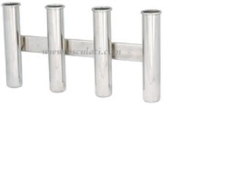 Fishing Rod Holder Stainless Steel Quadruple 4   FISHRDSS4