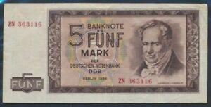 DDR-Rosenbg-354b-KN-6stellig-Austauschnote-used-III-1964-5-German-Ma-9055446