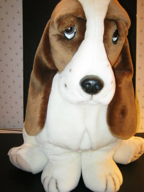 Vintage Rare Official Plush Hush Puppies Basset Hound by Wolverine-Jumbo 32 -New