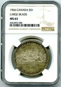1963 S$1 Canada Silver Dollar NGC PL 66