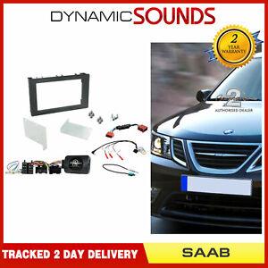 CTKSA01 Double Din Fascia Steering Antenna Adaptor Fitting Kit For Saab 9-3 08>