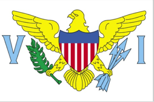 U.S VIRGIN ISLANDS FLAG VINYL DECAL STICKER MULTIPLE SIZES TO CHOOSE FROM