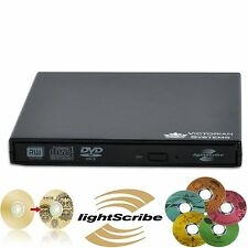 NUOVO USB 2.0 External DVD RW CD RW LightScribe bruciatore unità DVD per PC Laptop MAC