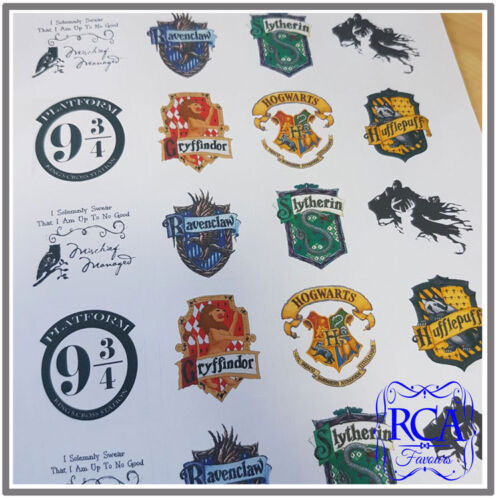 40mm x 40mm 24 x Square Stickers Variety Pack Harry Potter Designs
