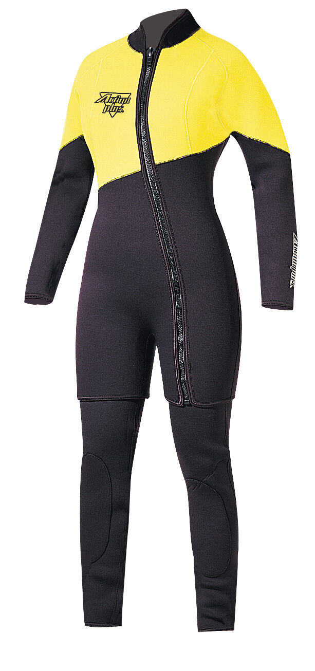 Action Plus Women's 3mm Farmer Jane Two Piece Wetsuit Sz Large MADE IN USA  NY