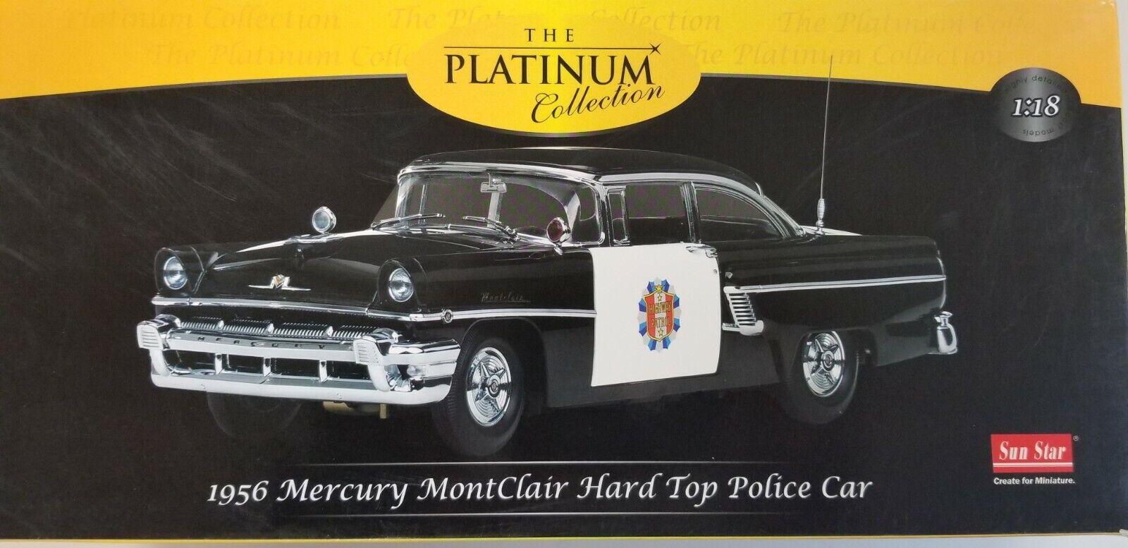 1956 Mercury Montclair Hard Top coche de policía la colección de platino