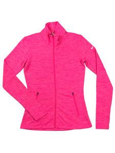 ba278a99 Nike Golf Womens Dri-Fit Full Zip Long Sleeve Jacket Shirt Bright ...