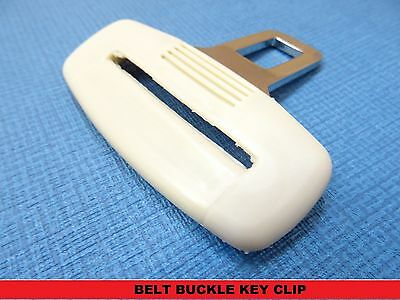 OPEL ASTRA CREAM SEAT BELT CLIP ALARM BUCKLE KEY BUZZER WARNING LIGHT CLEARER