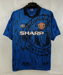 Manchester United Away Football Shirt 1992/93 Adults Large Umbro A504