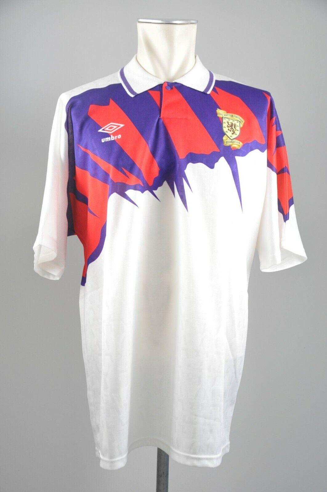 Schottland Trikot 1992 1992 1992 Gr. XL Umbro Jersey Away Scotland Shirt EM 1991 vintage 26a80c