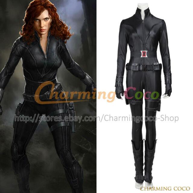 The Avengers 1 Age Of Ultron Natasha Romanoff Cosplay Black Widow Costume Sexy
