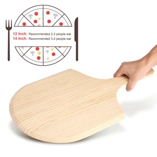 Pizza Peel Peels Paddle Style Lifter Wooden Handle Wood Birchwood Oven Spatula