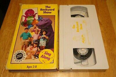 Barney - The Backyard Show (VHS, 1992) Purple Dinosaur ...
