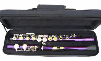 Warranty. New Purple Band C Flute W/case.approved Flutes