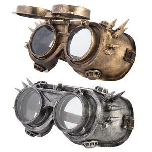 WELDING-Vintage-Cyber-Gothic-Steampunk-Sunglasses-Rustic-PUNK-GOOGLES-Gold