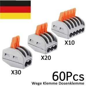 60X2-3-5-Wege-Klemme-Wagoklemmen-Verbindungsklemme-Hebel-Klemmen-Dosenklemme-NEU