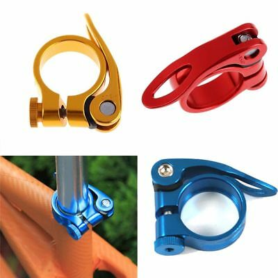 US Aluminum Alloy Seatpost Clamp Quick 31.8mm MTB Cycling Saddle Seat Post Clamp