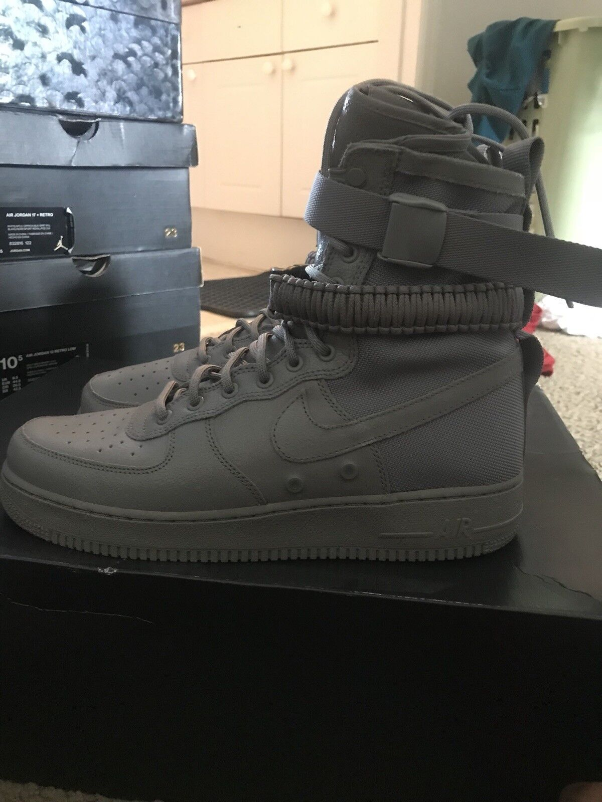 MEN'S NIKE SF AIR FORCE 1 QS PRM DUST 2017  SPECIAL FIELD SIZE 11.5 [903270-001]