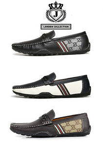 Mens-Slip-On-Comfort-Driving-Shoes-Smart-Casual-Boat-Deck-Moccasin-Flat-Loafers