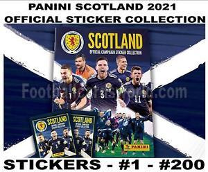 PANINI SCOTLAND 2021 EUROS STICKER COLLECTION - #1 - #200