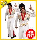 MENS Costume Fancy Dress Up RD Licensed ELVIS King Rock n Roll Deluxe S M L XL