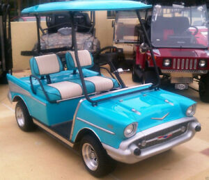 Details about 57 Chevy Custom Golf Cart Body Kit CLUB CAR DS includes  lights, hardware