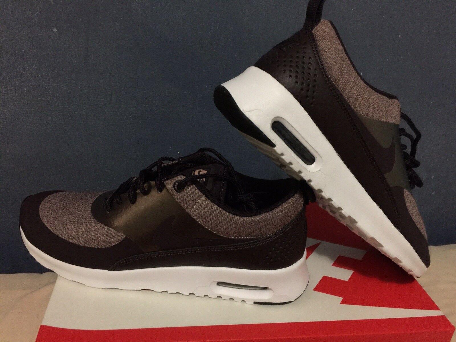 Nike Air Max Thea Metallic Mahogany Wine Running Shoes Women Size 8