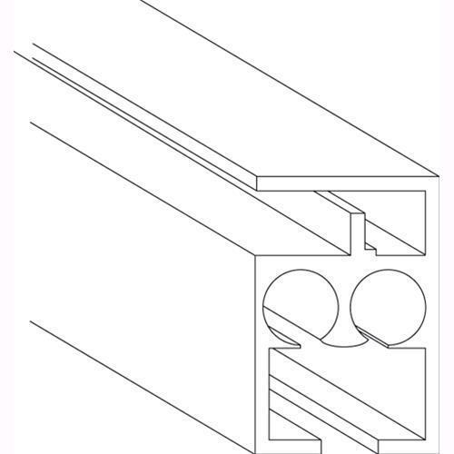 SCORRITENDA Mod. M510 IN ALLUMINIO BIANCO 16x23,2 mm Conf. 60 Metri