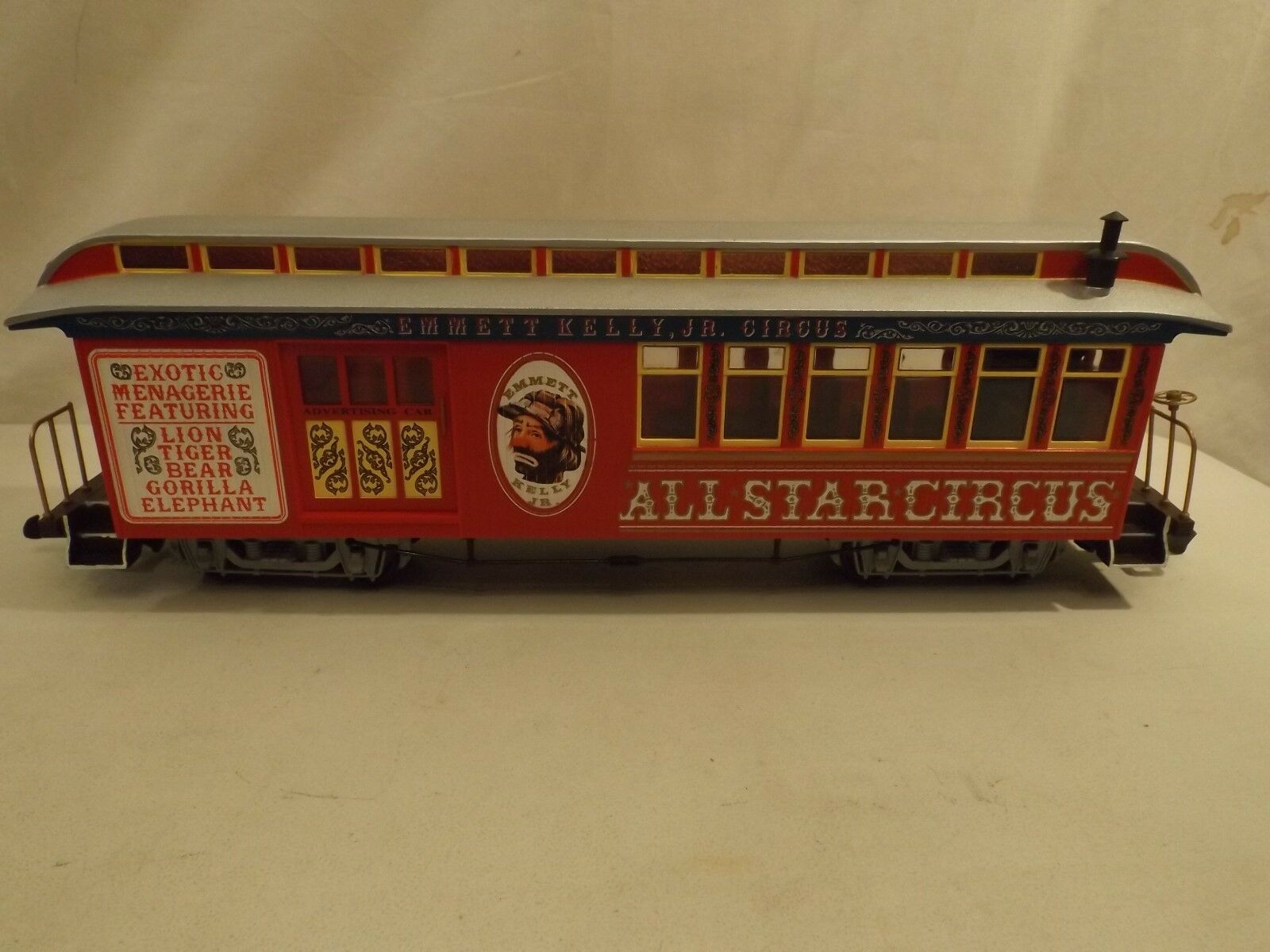 G scale scale scale Bachmann Emmett Kelly Jr. Circus combine car in original box 55d136