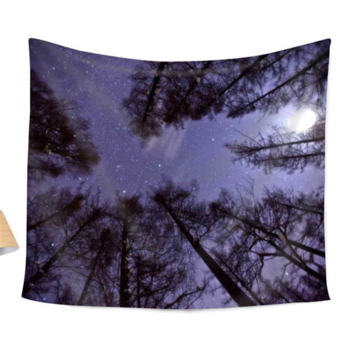 Galaxy Forest Wall Tapestry Hippie Hanging Dorm Decor Throw Bohemian Bedspread