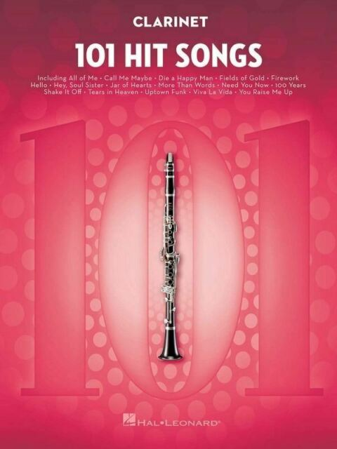 101 Hit Songs - Clarinet Edition Book *NEW* Pop Music