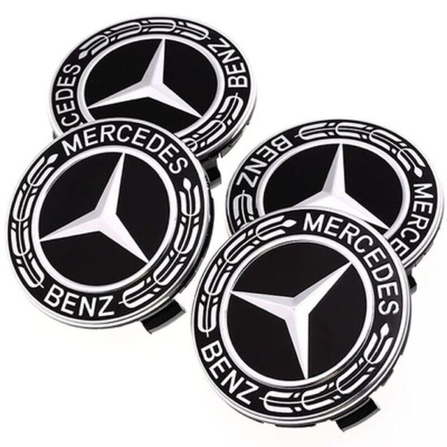 4PC 75mm Wheel Center Hub Caps Cover Logo Badge Emblem Sticker For Mercedes-Benz