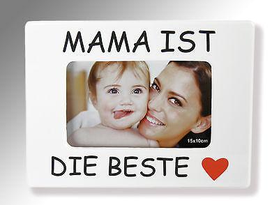 Herz Bilderrahmen Fotorahmen Herz, für 1 Foto - Bilder, Mama ist die Beste