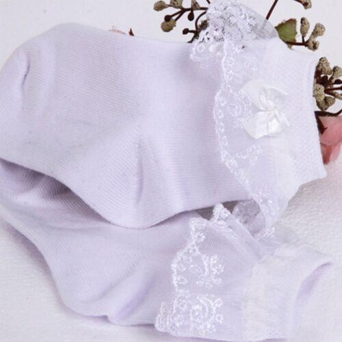 UK Baby Girls Frilly Lace Tutu Short Socks Infant Newborn Toddler Ankle Socks