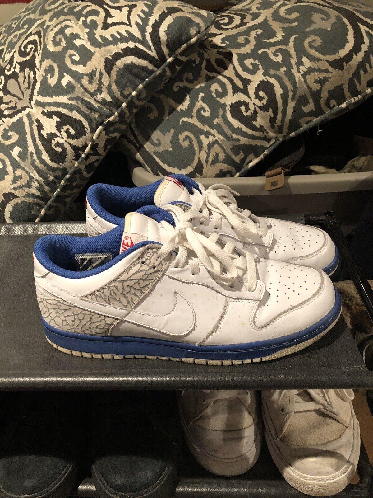 39b638b11b4b7f Nike Air Dunk Low CL Cement True blueee Jordan Jordan Jordan Pack lll Sz  9.5 8aaded