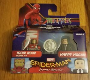 Details about Marvel Minimates Spider-Man Homecoming Iron Man Mark 47 and Happy Hogan.