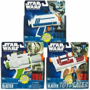 Star Wars Blaster Pistole Nerf Fasching Kostüm Kinder Halloween 3 Darts Hasbro