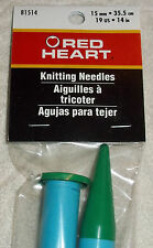 mm 17 19 14 10 in NEW 6 LOT Knitting Needles Red Heart Susan Bates 15 12.75