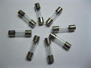 100pcs 5mm x 20mm Glass Fuse Fast Blow T 1A 20A 250V New