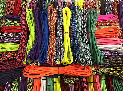 Paracord grab bag 200 feet 20 random colors and 25 buckles Type III US made cord